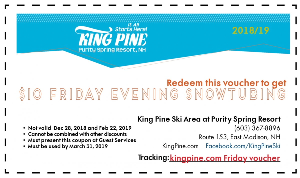 $10 Friday Night Snowtubing Voucher