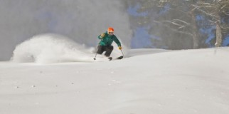 Powder turn at King Pine