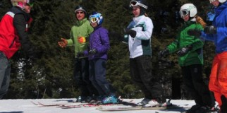 Skiers In a Group Lesson