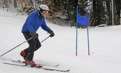 Pioneer Race Series telemark participant