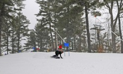 Pioneer Race Series snowboard participant