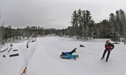 Snowtubing at King Pine near North Conway