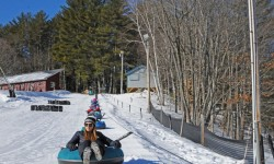 Snow tubing at King Pine Ski Area