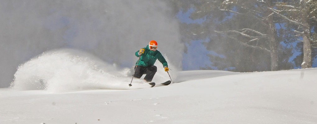 Powder Skier at King Pine