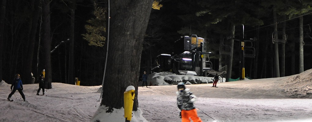 Night Skiing in New Hampshire