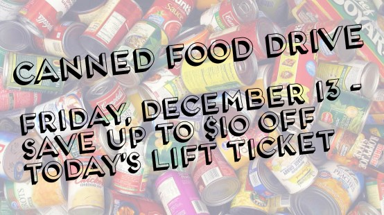 Canned food drive graphic